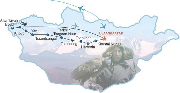 Route Dach der Mongolei