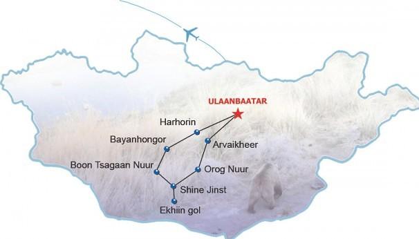 Route Gobi Bären