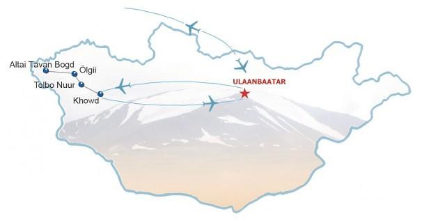 Route Reittour im Altai